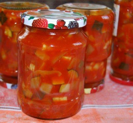 простой рецепт приготовления помидоров с кабачками на зиму