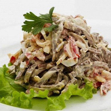 Салат с телячьим языком (Новогодняя неделя еды)
