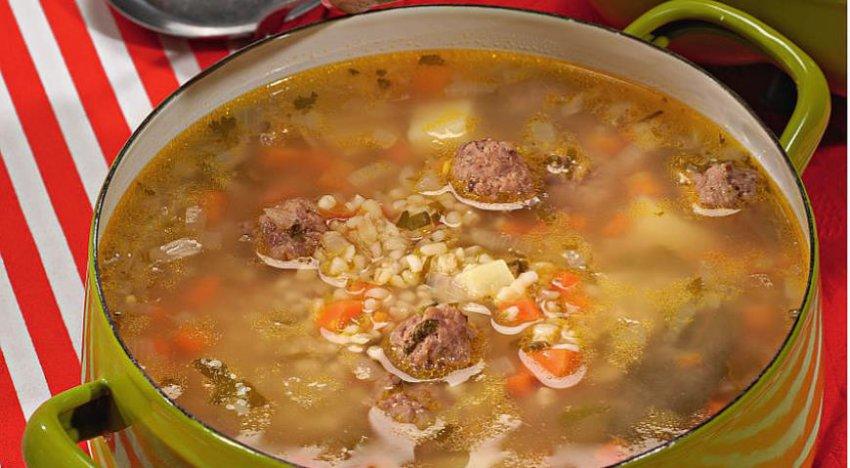 Суп с фрикадельками и булгуром (Барышня и кулинар)