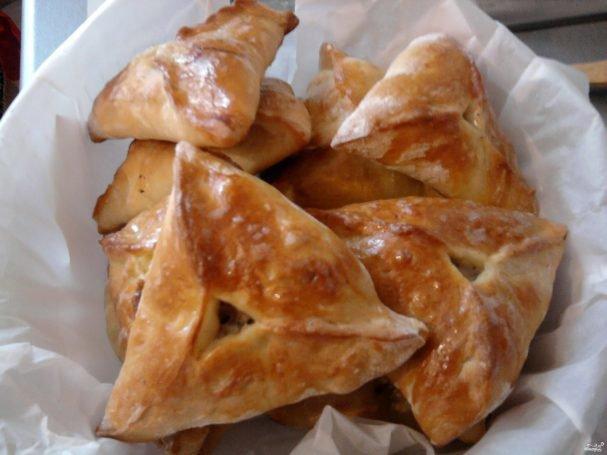 Треугольники (эчпочмаки) с мясом и картошкой